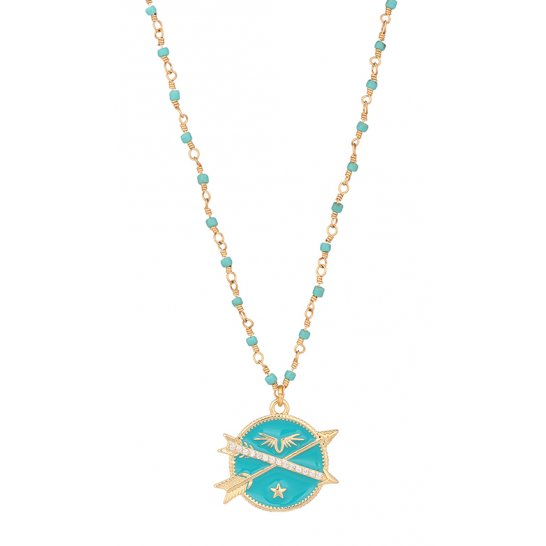 COLLIER LUCKY FLÈCHE TURQUOISE