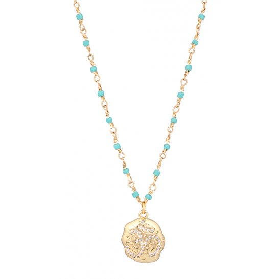COLLIER LUCKY OM TURQUOISE