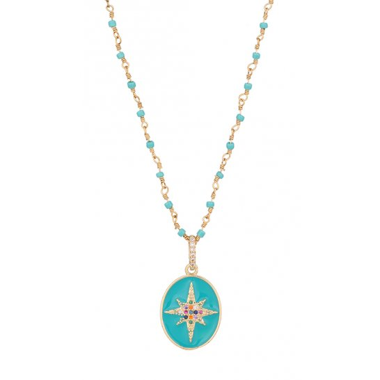 COLLIER LUCKY STAR TURQUOISE